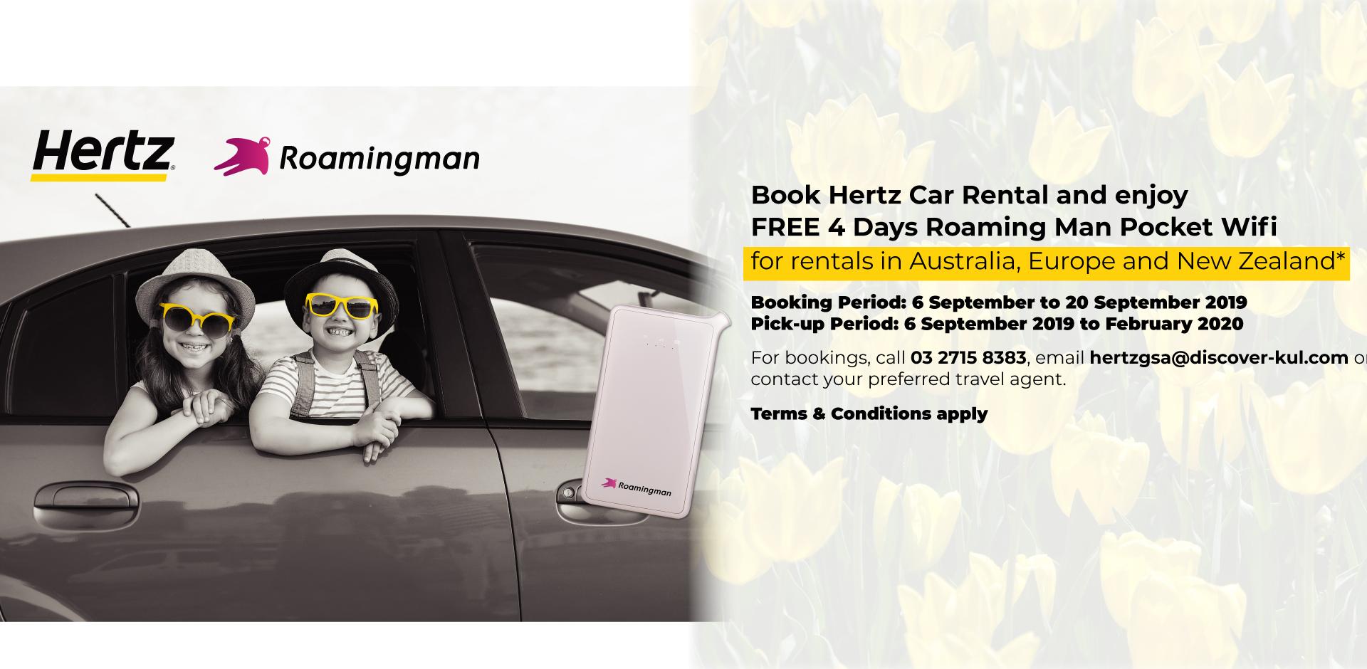 Roaming Man Pocket Wifi Rental